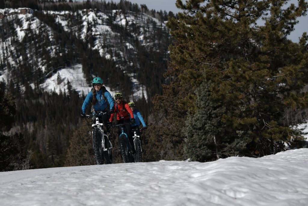 Fat Tire Biking in Park City. Foto Credit: Mike Schirf│White Pine Touring