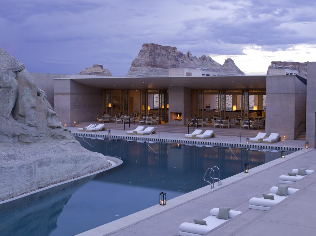 Pavilion & Swimming Pool des Amangiri Resort, Foto Credit Amangiri Resort