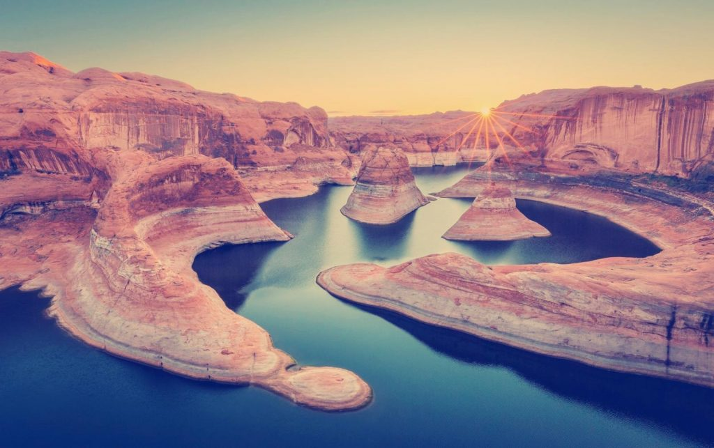 Der Reflection Canyon in Utah. Foto Credit: Kane County Office of Tourism