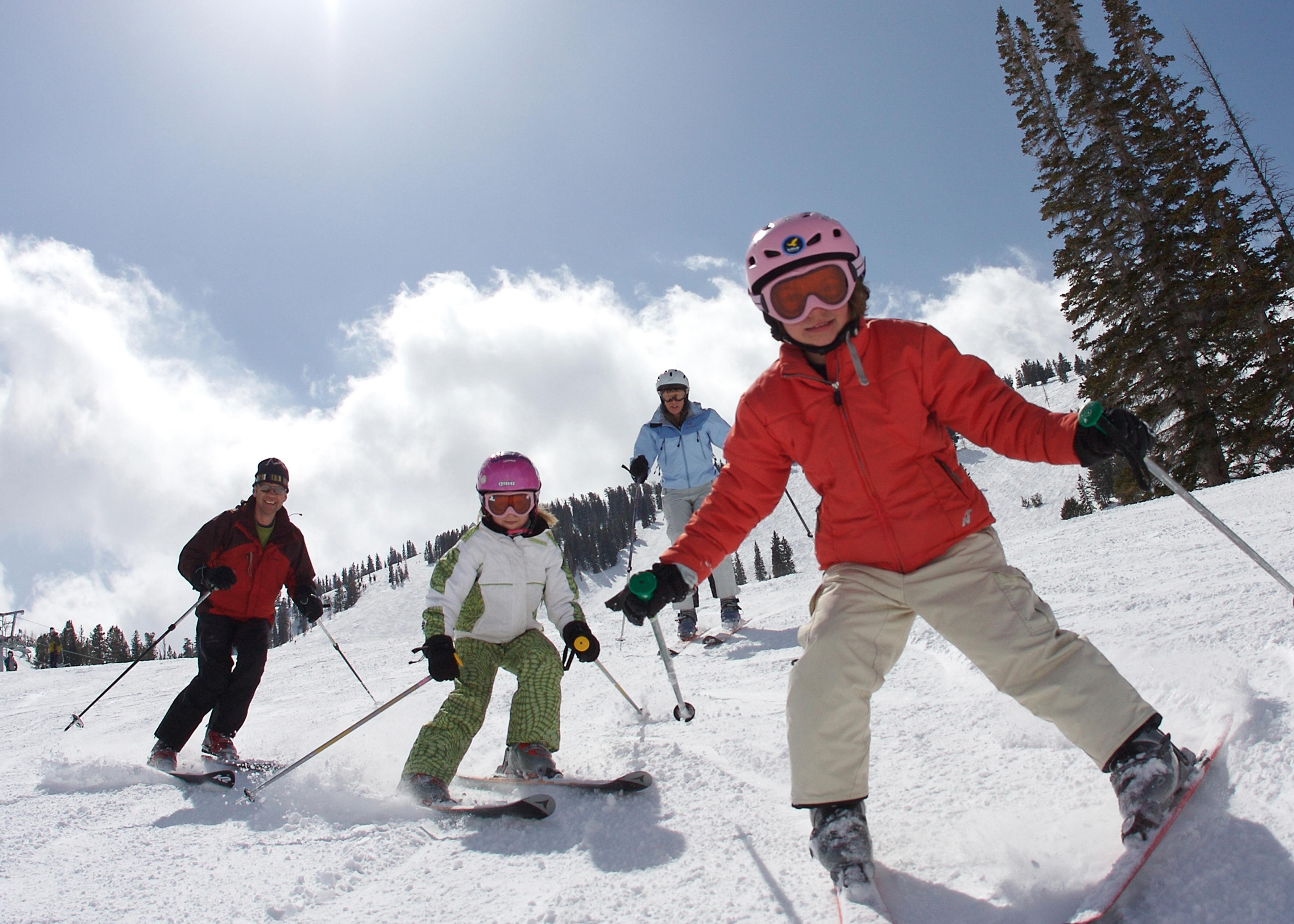 Familienspaß im Skigebiet Brighton in Utah