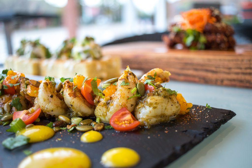 """Die Meeresfrüchte Vorspeise im Restaurant """"Sego"""" in Kanab, Utah. Foto Credit: Sego Restaurant"""