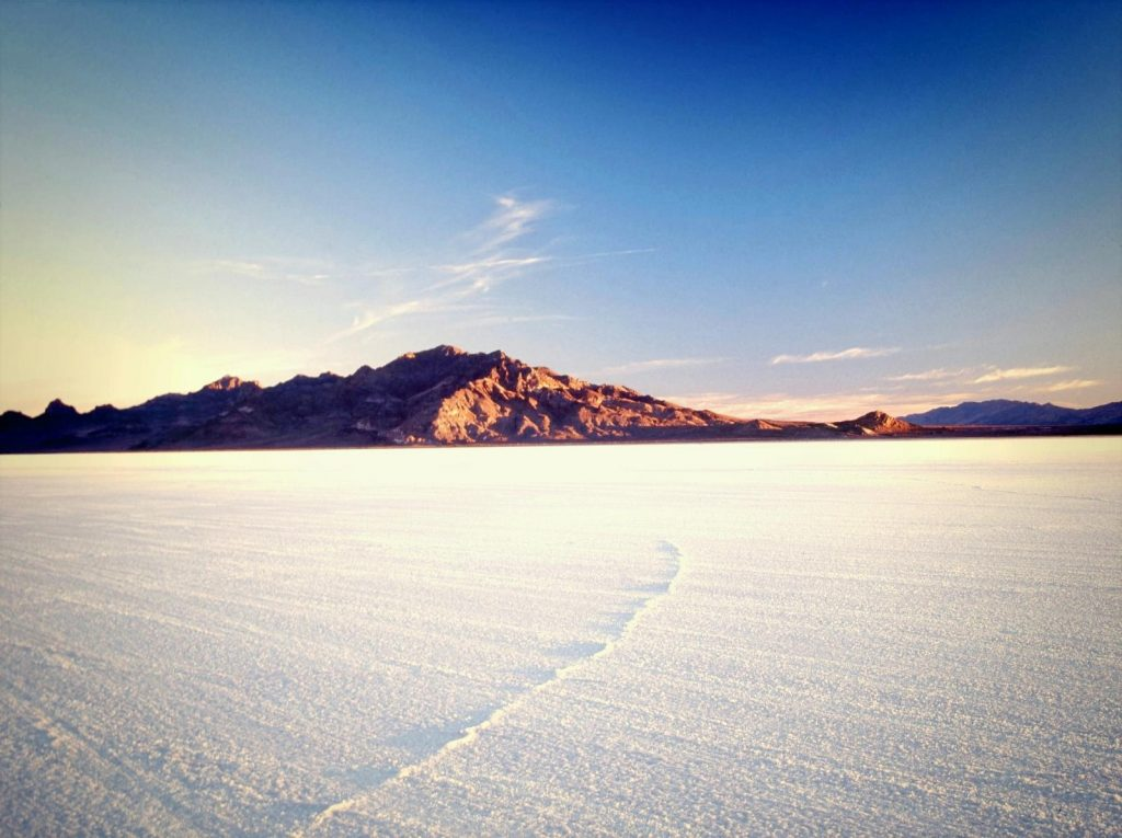 Die Bonneville Salt Flats in Utah. Foto Credit: Steve Greenwood; Utah Office of Tourism