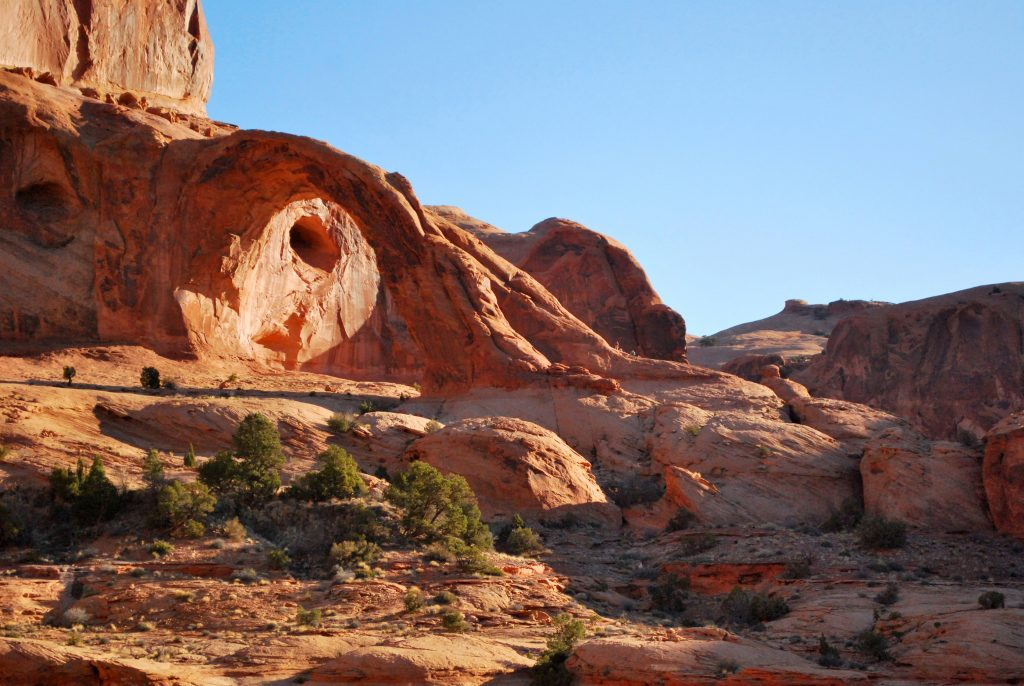Corona Arch beim Potash-Lower Colorado River Scenic Byway; photo credit: Audrey Livingston I Utah Office of Tourism