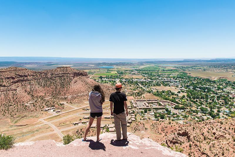 Foto Kanab Squaw Hiking Trail mit Blick auf Kanab_Credit_Kane County
